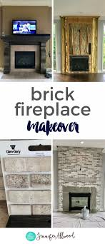 Light Grey Painted Brick Fireplace A Light Brick Fireplace Makeover By Brick Fireplace