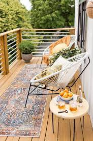 use small balcony furniture and diy