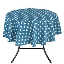 round polka dot tablecloth red or towel over the surface of a brown wooden