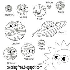 Coloring Pages Solar System Coloring Pages For