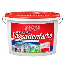 Reinacrylat-Fassadenfarbe 10 L Weiss Fungizid Matt Schöner Wohnen ...