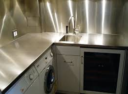 nice stainless steel countertop for stainless steel countertop and backsplash in laundry room 12 stainless steel
