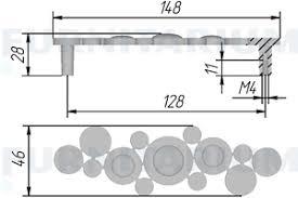 <b>Ручка</b>-<b>скоба</b> 128мм <b>бронза состаренная</b> с кристаллами ...