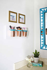bathroom accessories ideas. DIY Bathroom Decor Ideas For Teens - Leather Copper Cup Organizer Best Creative, Cool Accessories