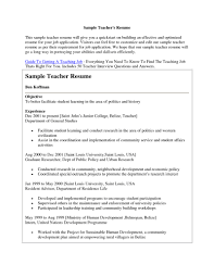 Sample Resume For Applying Teaching Job Best Letter Sample