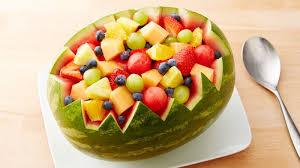 fruit salad bowl recipe. Plain Recipe Carved Watermelon Bowl With Fruit Salad Recipe