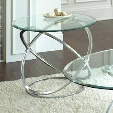 glass coffee table and side set silver 3 piece top w chrome base uk