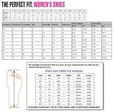 Guess Women Shoes Size Chart Www Bedowntowndaytona Com