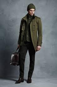 mens modern military inspired winter coat