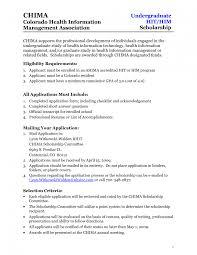 Good Resume Templates Scholarship Application Template Saneme