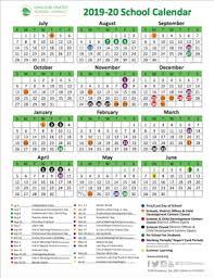 School Year Calendar 2019 20 School Year Calendar