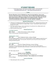 Resume Builder For Students Outathyme Com