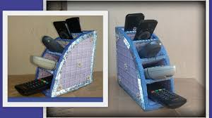 remote control holder organiser rack with cardboard