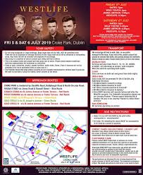 Westlife Croke Park Stage Times Have Been Announced