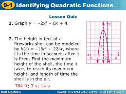 holt algebra 1 lesson 9 quadratic equations and functions jennarocca