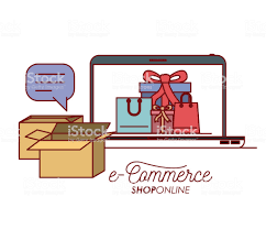 Laptop Met Behang Binnenkant Set Cadeau En Zak Winkelen Ecommerce