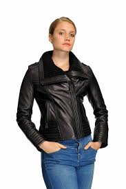 plus size leather jackets new michael kors plus size knit collar moto leather jacket