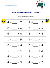 Ideas About Worksheet Math Grade 1, - Easy Worksheet Ideas