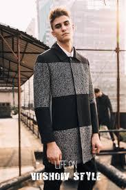 viishow brand winter pea coat men jacket long trench coat male overcoat jacket winter long jacket