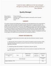 Qa Manager Resume Most Effective Quality Assurance Job
