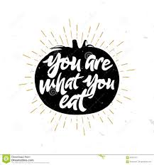 Quote Inside A Quote You Are What You Eat Quote Inside The Tomato Stock Vector