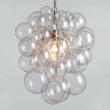 glass bubble pendant chandelier picture of tiny bubbles blown glass pendant lights 14 light glass globe