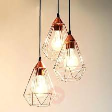 copper light pendant impressive glossy copper hanging light 3 bulb with regard to hanging light bulb copper light pendant
