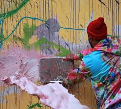 artist david choe painted the famed houston bowery wall last week in new york and the accompanying frenzy that often follows this street art graffiti event  on new york in art wall calendar 2017 with david choe paints houston bowery wall accusers call him rapist in