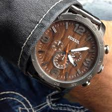 fossil men s machine gray tone stainless steel bracelet watch 42mm the earthy tone of this wooden faced fossil watch would go perfectly a dark blue shirt or suit try it popular mens gold watches shop mens watches