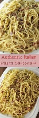 authentic italian pasta carbonara