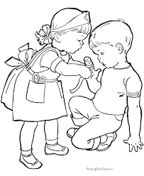 Children Playing Outside Coloring Pages – Color Bros