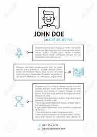 Simple Cv Resume Template With Outline Icons