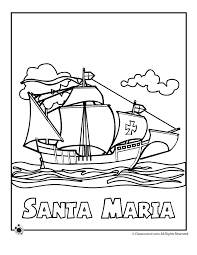 Columbus Day Worksheets and Coloring Pages for Kids - Woo! Jr ...