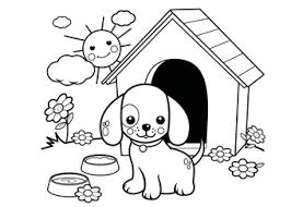 Kleurplaten Baby Honden
