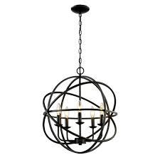 bel air lighting 5 light rubbed oil multi ring orb bronze chandelier