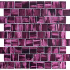 glass tile mosaic bathroom and kitchen drio violet