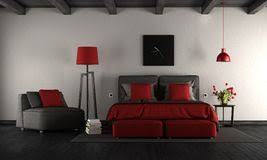 modern bedroom black and red. Black And Red Modern Master Bedroom Stock Photography R