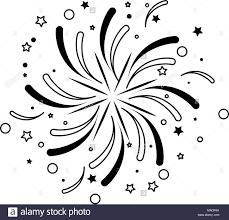 Fireworks exploding isolated stock image