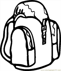 Small Picture Backpack Coloring Page Clipart Panda Free Clipart Images