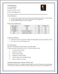 Resume Format For Freshers For Accountant Resume Corner