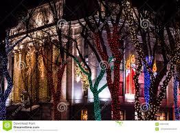 Prescott Az Christmas Tree Lighting Christmas Lights At Courthouse Square Editorial Stock Photo