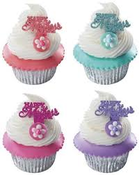 Happy Mothers Day Iridescent 24pk Cupcake Desert Food