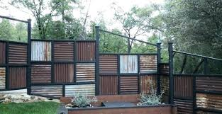 corrugated metal privacy fence. Brilliant Metal Corrugated Metal Privacy Fence  Using Post Panels Throughout
