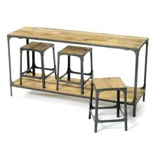distressed industrial furniture. Rustic Industrial Distressed Console Table And Made From Reclaimed Salvage Wood With Metal Frame 3 Stools Legs Ideas Furniture T