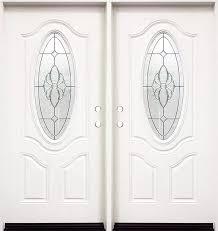 white double front door. White Double Exterior Fiberglass Entry Door FM800 Front