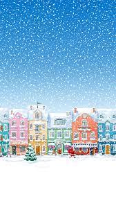 Snowy Town Santa Claus Delivering ...