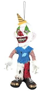 creepy clown hanging prop decoration decorations