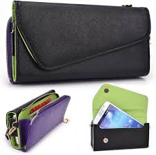Purple Wallet fits Celkon A900 case ...