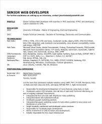 Php Programmer Resume Sample Resume For Experienced Developer Free