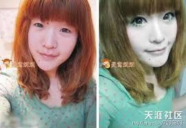 chinese s makeup before and after 09